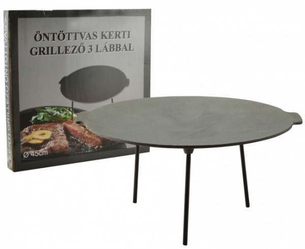 Gusseisene Grill Scheibe 45 cm | Öntöttvas grill tárcsa