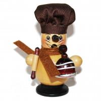 Kleines Räuchermännchen - Bäcker 11 cm hoch