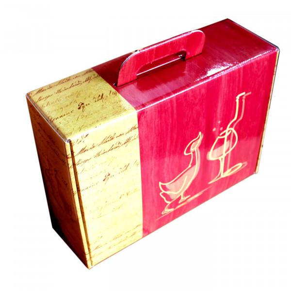 3er Präsentkarton für Weinflaschen