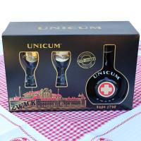 Unicum - 0,7l mit zwei Gläsern
