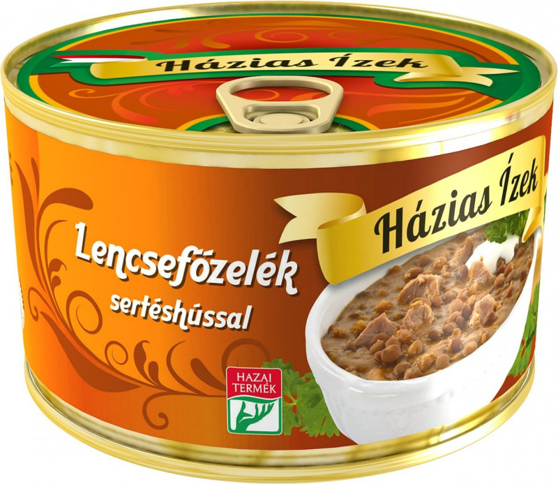 Schweinefleisch mit Linsengemüse 400g,Lencsefõzelék sertéshússal