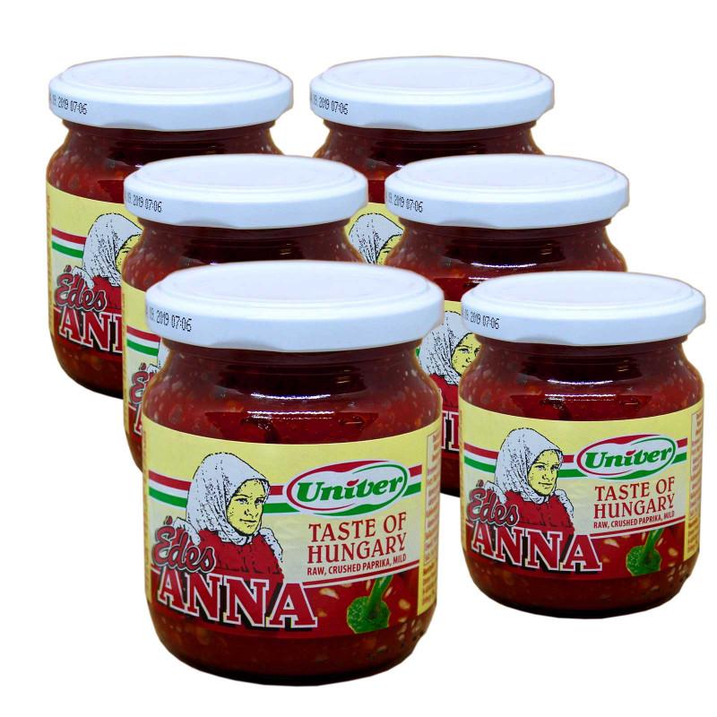 6 x Edes Anna -ungarische Paprikacreme süss