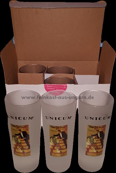 """Unicum Gläser 6er SET """"Kellner"""""""