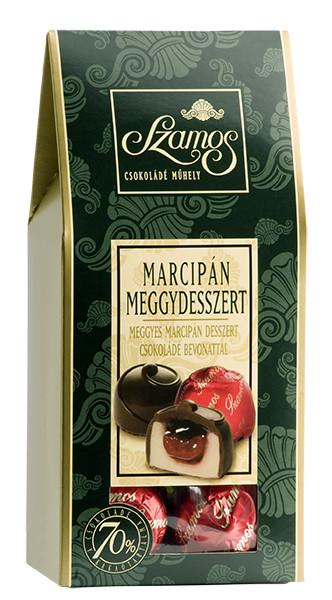 Szamos Sauerkirsche Marzipanschokoladenkugeln, MEGGYDESSZERT sátordoboz 125g