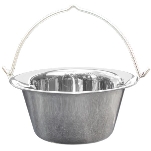 Edelstahl Gulaschkessel aus Edelstahlblech 12 Liter