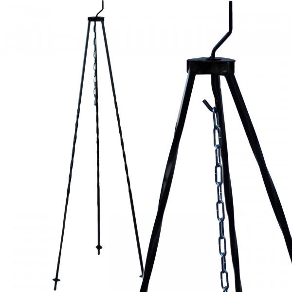 Dreibein schwarz lackiert - 1,2m