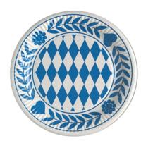 Teller, Pappe rund - Bayrisch Blau - 100 Stück