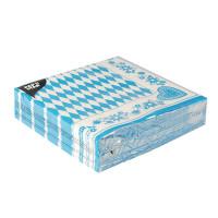 50 Dekorservietten mit Druck - Bayrisch Blau