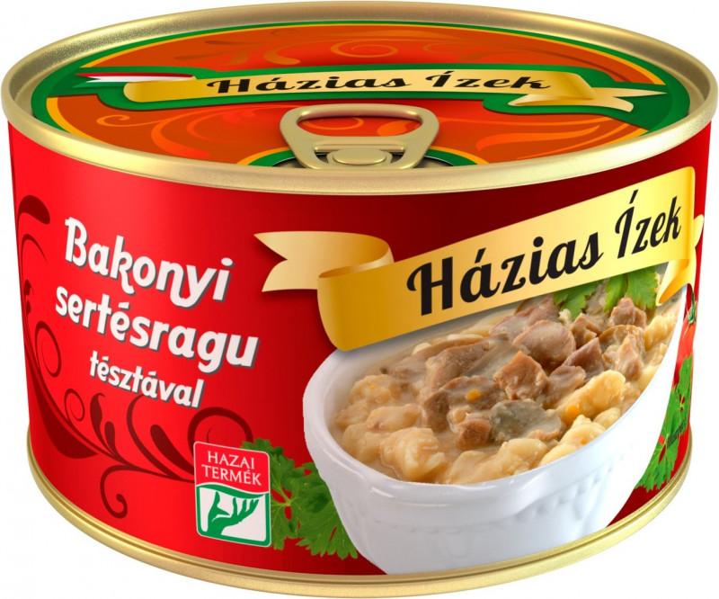 Schweineragout mit Pilzen und Nudeln 400g, Bakonyi sertésragu tésztával