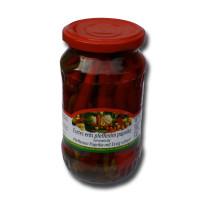 Pfefferoni Paprika mit Essig