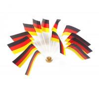 Deutschlandflaggen aus Papier 12 cm x 22 cm