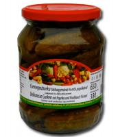 Gewürzgurken mit Knoblauch und Pepperoni, pikant 720 ml Glas