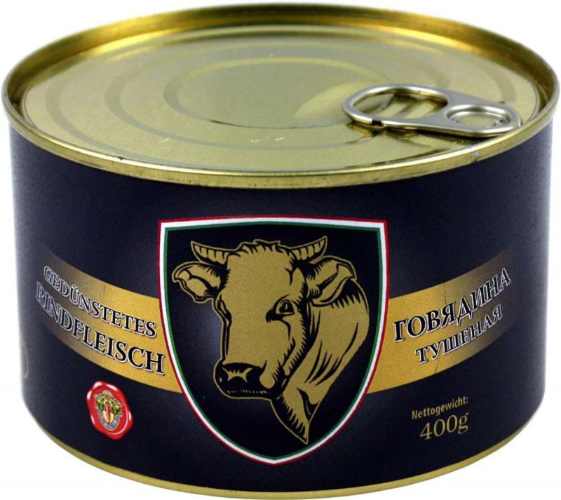 Rinder-Tuschonka -Gedünstetes Rindfleisch 400g