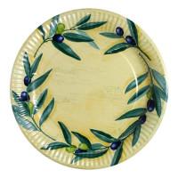 10 Teller, Pappe rund - Olivenhain
